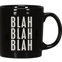BLAH BLAH BLAH - Trash Talk By Annie - Black Coffee / Tea Mug