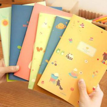2017 New Arrival Daily Notebook School Supplies Cute Korean Stationery Notebook Planner To Do List Sketchbook