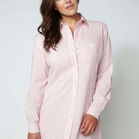 Tranquillity Stripe Nightshirt - Pink Mix | Boux Avenue