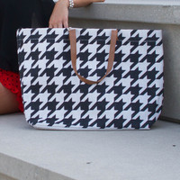 Game Day Tote - Houndstooth