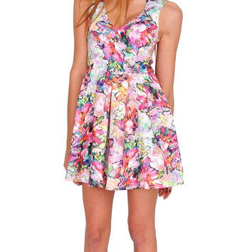 The Garden Of Fantasy Skater Dress - Floral