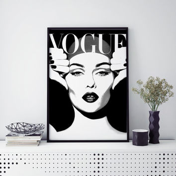 FASHON PRINT Fashion Poster Digital Download Printable Art Retro Poster Modern Wall Art Vintage Vogue Cover Fashion wall Art 1950 Edition