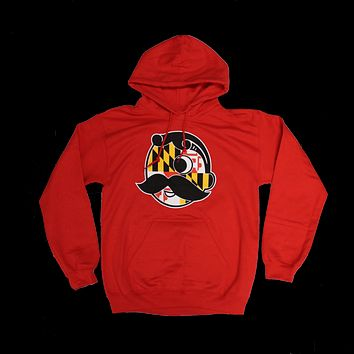 Natty Boh Logo with Maryland Flag (Red) / Hoodie