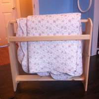 Wooden Furniture Quilt Rack made in solid Pine.