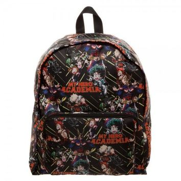 My Hero Academia Collage Print Packable Backpack
