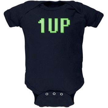 PEAPGQ9 Gamer Geek Birthday 1 Up Extra Life Soft Baby One Piece