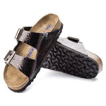 Sale Birkenstock Arizona Soft Footbed Birko Flor Myda Wine 1005487 Sandals