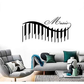 Wall Vinyl Music Piano Beautiful Songs Guaranteed Quality Decal Unique Gift (z3546)