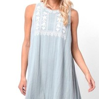 Genevieve Embroidered Mini Dress