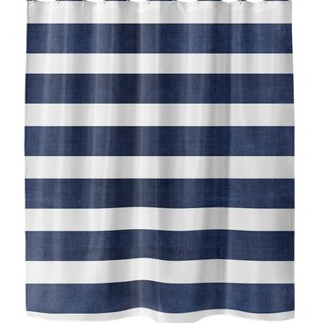 CENTERVILLE NAVY Shower Curtain By Terri Ellis