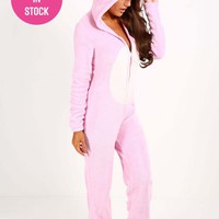 Unicorn Pink Fleece Onesuit