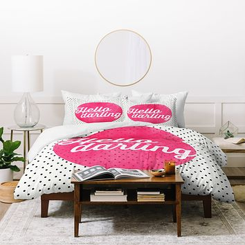 Allyson Johnson Hello Darling Dots Duvet Cover