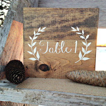 Table Numbers, Wood Table Numbers, Rustic Table Numbers, Wedding Table Numbers, Wedding Decor