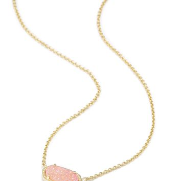 Elisa Gold Pendant Necklace in Pink Drusy | Kendra Scott