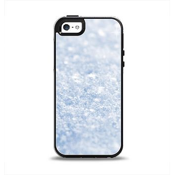 The Sparkly Snow Texture Apple iPhone 5-5s Otterbox Symmetry Case Skin Set