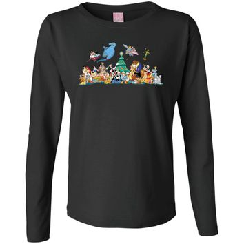 Disney Christmas Clipart Mais Alguns Cliparts Variados WydGMm Clipart 01 Ladies' Long Sleeve Cotton TShirt
