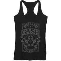 Johnny Cash Women's  Mean As Hell Womens Tank Black