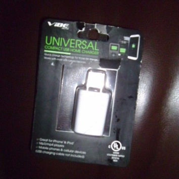 VIBE UNIVERSAL COMPACT USB HOME CHARGER;NEW;iPhone,iPod,Mp3/Mp4 players, phones