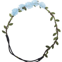 Rhinestone Center Flower Headwrap | Wet Seal