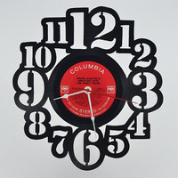 Handmade Retro Vinyl Record Clock (artist is Frank Sinatra)