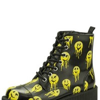 Melted Smiley Combat Boots