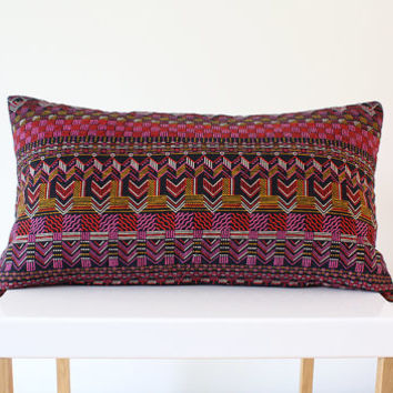 Vlisco Lumbar Pillow - 1950s fabric