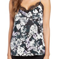 Halogen® Lace Detail Cami (Regular & Petite) | Nordstrom