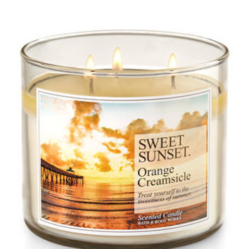 Sweet Sunset - Orange Creamsicle 3-Wick Candle | Bath And Body Works