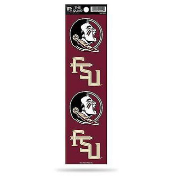 Florida State Seminoles FSU Quad Decal Sheet Bumper Sticker Emblem University