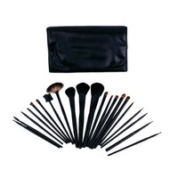 FASH Professional goat and horse hair Cosmetic Brush Set with Faux Leather Pouch,21-Piece, For Eye Shadow, Blush, Eyeliner, eyebrow.....