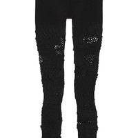 Junya Watanabe - Mesh-paneled stretch-knit leggings