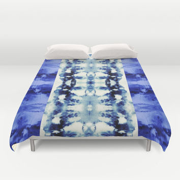 Tie Dye Blues Duvet Cover by Nina May Designs