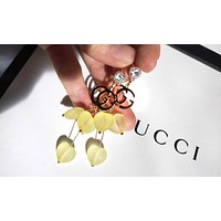 GUCCI Fashion Women Cute Double G Pendant Earrings Accessories Jewelry