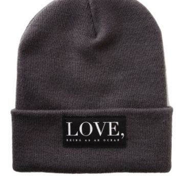 Being As An Ocean - Patch Love Premium Charcoal - Long Beanie