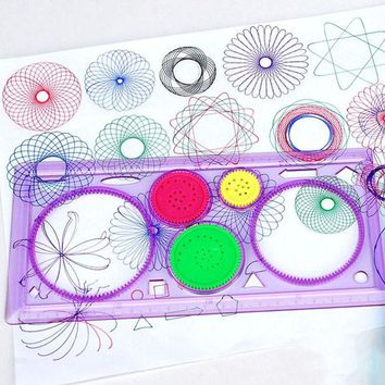 DCCKL72 Creative Gift Spirograph Geometric Ruler Drafting Tools Stationery For Students Drawing Toys Set Learning Art Sets For Children