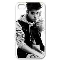 Custombox Justin Bieber iphone 4/4s Case Plastic Hard Phone case-iPhone 4-DF00089