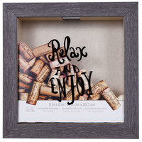"""Relax"" Shadow Box, 8"" x 8"", Treasured Memories By Studio Décor®"