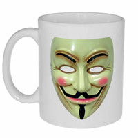 Anonymous Guy Mask- Coffee or Tea Mug