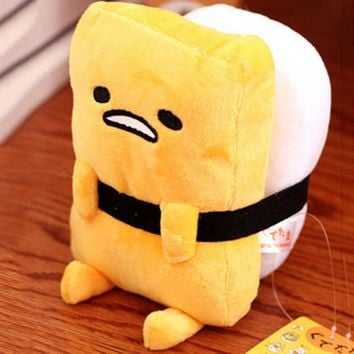cute cartoon plush toy sushi lazy egg kawaii stuffed cushion creative birthday gift 1pc