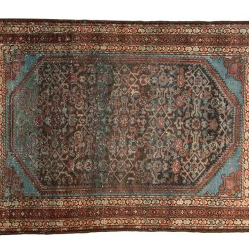 3.5x5 Vintage Distressed Malayer Rug