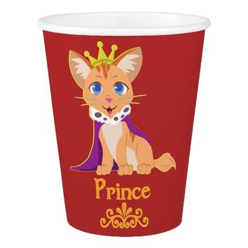 Prince Kitten Paper Cup