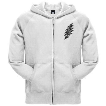 Grateful Dead - B & W Calaveras White Zip Hoodie