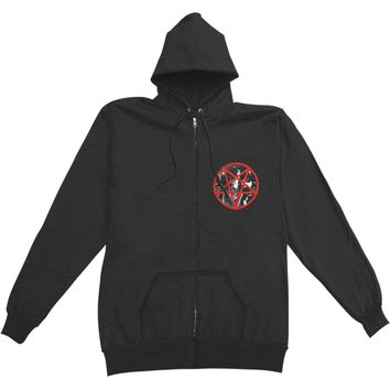 Emperor Men's  Rider 2014 Zippered Hooded Sweatshirt Black Rockabilia