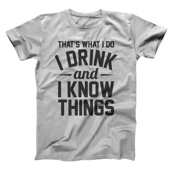 Game of Thrones I Drink And Know Things Men's T-Shirt