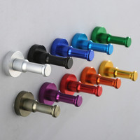Newly DIY Towel Wall Hook Bathroom Kitchen Clothes Key Hat Bag Hanger Rack Holder Wall Mounted Top Quality