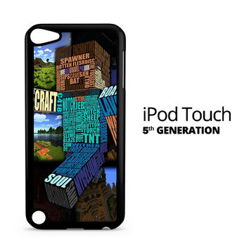 Minecraft Steve Typography iPod Touch 5 Case