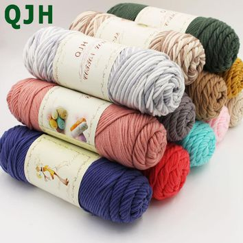 500g/lot Natural soft Silk Milk Cotton Yarn Thick Yarn For Knitting Baby Wool crochet scarfcoat Sweater weave thread