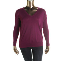 Love by Design Womens Cotton V-Neck Pullover Sweater