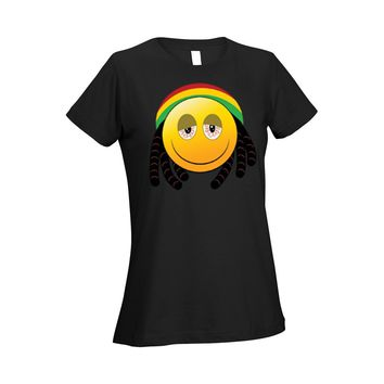 Women's Ladies T Shirt African 420 Face