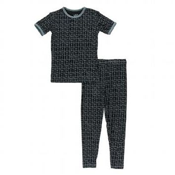 Kickee Pants Print Short Sleeve Pajama Set Astronomy & Chemistry Collection